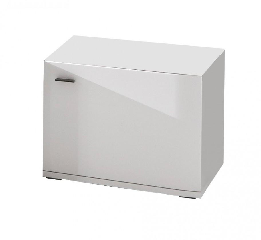 TV, Hifi stolek  - dřevěný Denver - Typ 38 (bílá arctic LDTD)