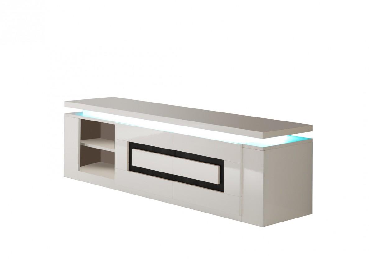 TV, Hifi stolek  - dřevěný Diva - TV stolek (bílá/černá)