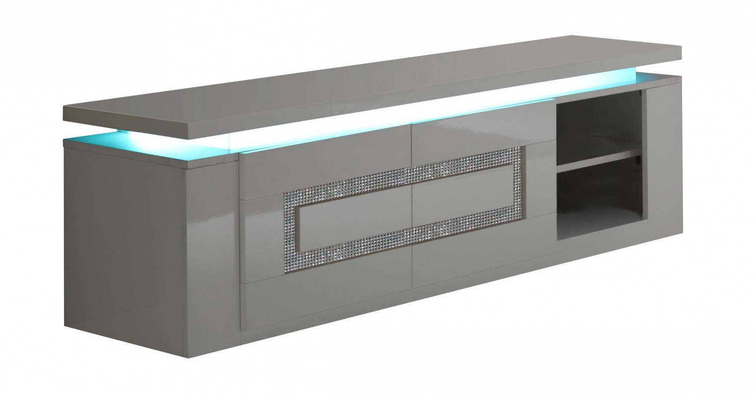 TV, Hifi stolek  - dřevěný Diva - TV stolek (bílá/diamant)