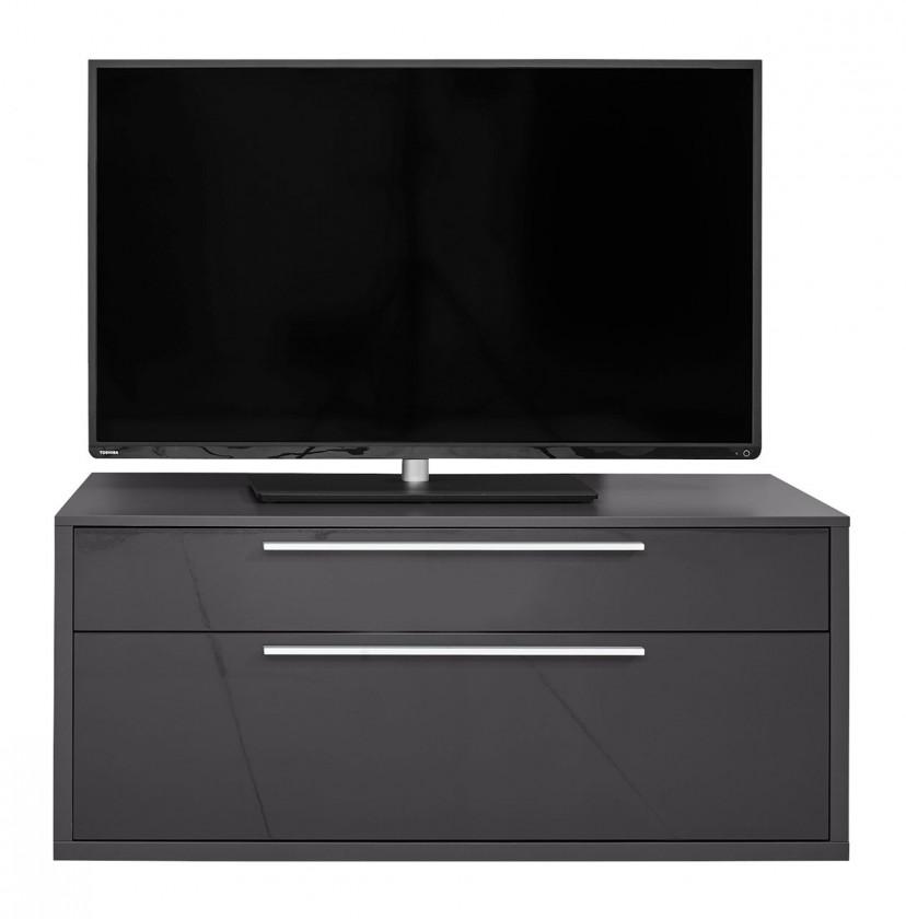 TV, Hifi stolek  - dřevěný Gamble - TV stolek 570153 (antracit/antracit lesk)