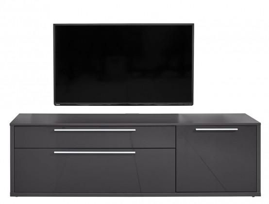 TV, Hifi stolek  - dřevěný Gamble - TV stolek 570154 (antracit/antracit lesk)