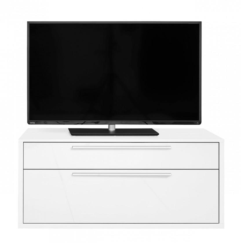 TV, Hifi stolek  - dřevěný Gamble - TV stolek 570753 (bílá/bílá lesk)