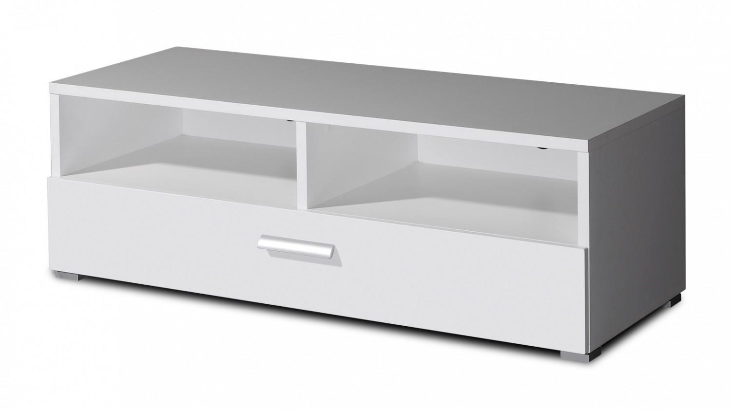 TV, Hifi stolek  - dřevěný GW-Linea - skříňka spodní (bílá)