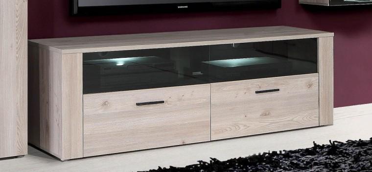 TV, Hifi stolek  - dřevěný Home Run HRDT221-N54 (dub nelson, černá/dub nelson)