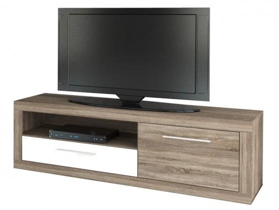 TV, Hifi stolek  - dřevěný Koln KLNT12 (Dub sonoma šedý/bílá VL)