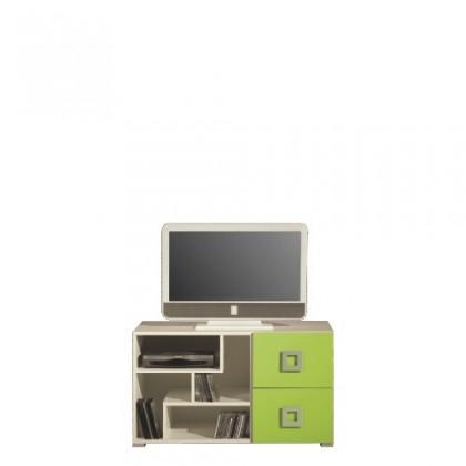 TV, Hifi stolek  - dřevěný LABYRINT LA 10 (krémová/limetka)