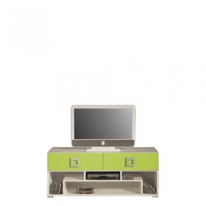 TV, Hifi stolek  - dřevěný LABYRINT LA 11 (krémová/limetka)