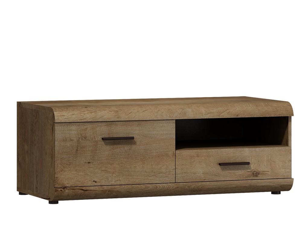 TV, Hifi stolek  - dřevěný Lena - RTV stolek (dub lefkas)