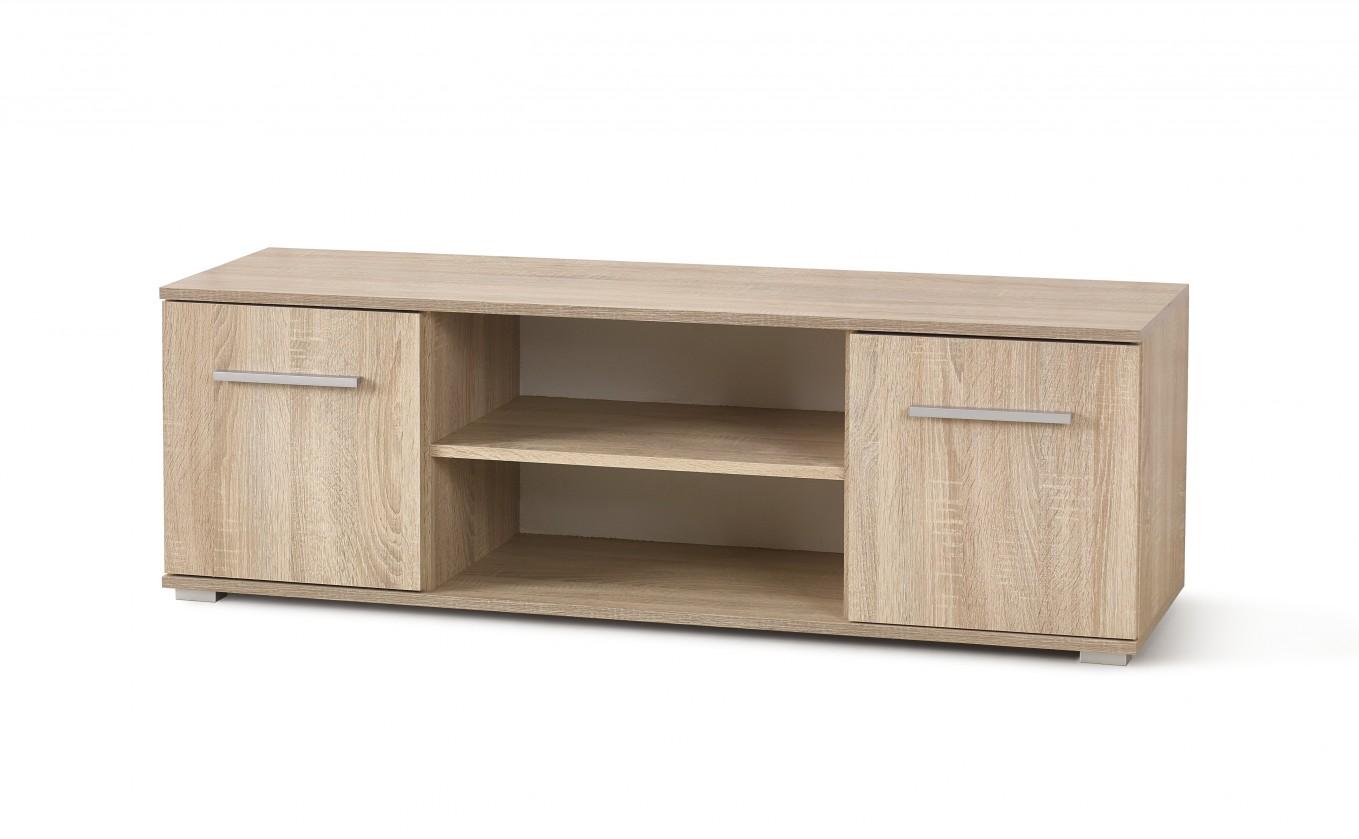 TV, Hifi stolek  - dřevěný Lima - TV stolek (dub sonoma)