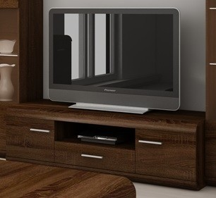 TV, Hifi stolek  - dřevěný Link - RTV stolek (dub chocolate)