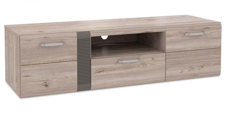 TV, Hifi stolek  - dřevěný Locarno - TV stolek, LCRT131-N92 (dub nelson/šedá mat)