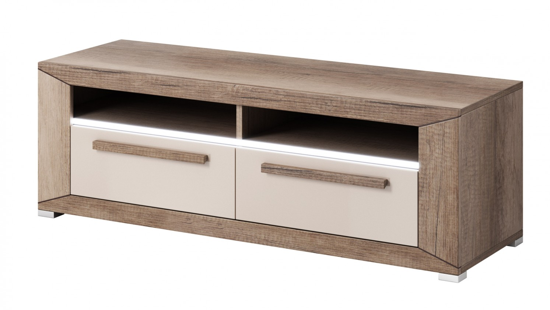 TV, Hifi stolek  - dřevěný Lumi - TV stolek, 2 zásuvky