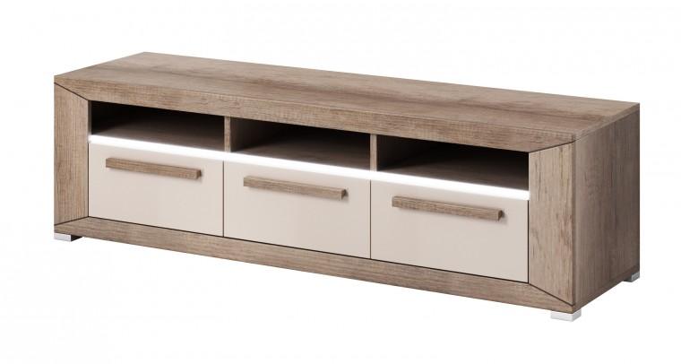 TV, Hifi stolek  - dřevěný Lumi - TV stolek, 3 zásuvky