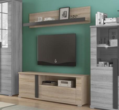 TV, Hifi stolek  - dřevěný Markus - TV komoda, 1x police, 1x dveře, police (dub sonoma)