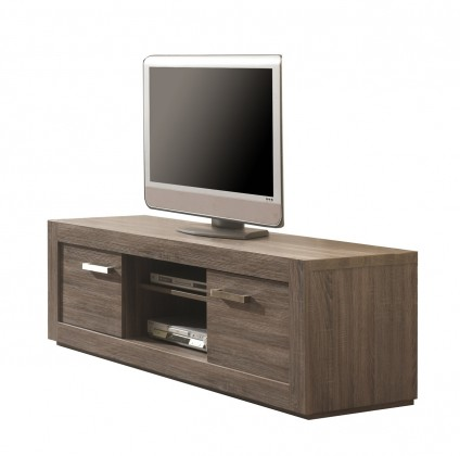 TV, Hifi stolek  - dřevěný Natura - TV element C061 (dub černý)