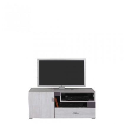 TV, Hifi stolek  - dřevěný NEXT NX 12 (borovice/šedá)