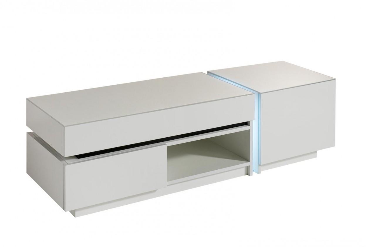 TV, Hifi stolek  - dřevěný Nicoli - TV stolek (bílá)