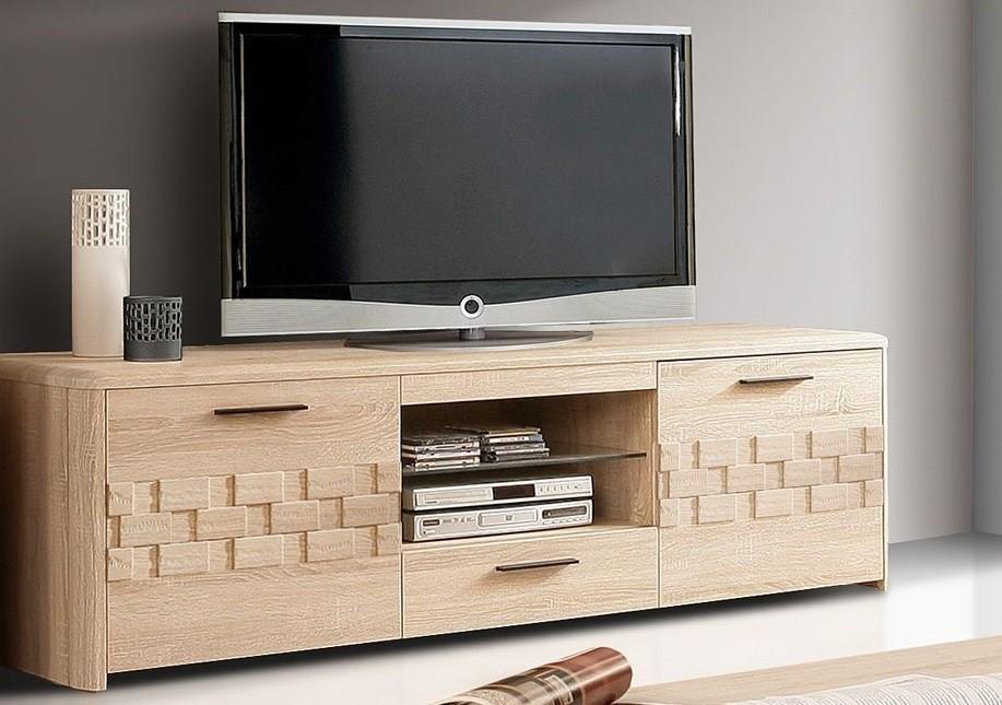 TV, Hifi stolek  - dřevěný Palais PLST24 (Dub sonoma)