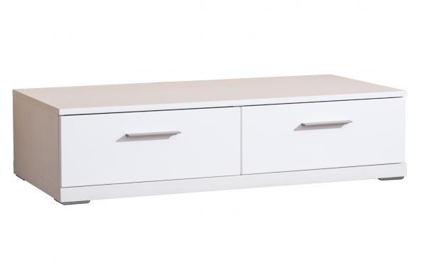 TV, Hifi stolek  - dřevěný Portoriko Typ 10 (Bílá arctic/dub bardolino)