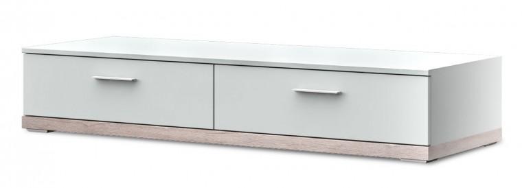 TV, Hifi stolek - dřevěný portoriko typ 11 (bílá arctic/dub bardolino)