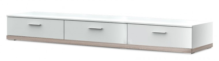 TV, Hifi stolek  - dřevěný Portoriko Typ 20 (Bílá arctic/dub bardolino)