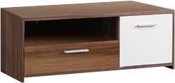 TV, Hifi stolek  - dřevěný Quadro QDRT12 (Ořech/bílá)