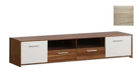 TV, Hifi stolek  - dřevěný Quadro QDRT16 (Dub Sonoma/Bílá matná)