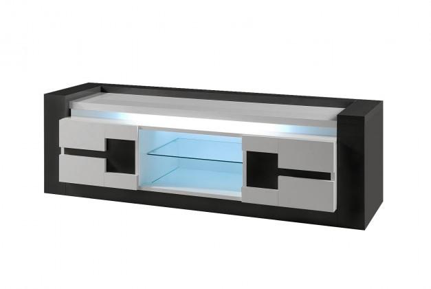 TV, Hifi stolek  - dřevěný Rimini - TV stolek (černá/bílá)