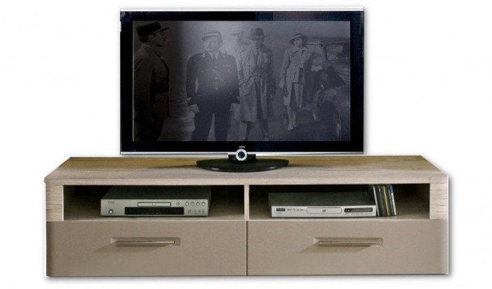 TV, Hifi stolek  - dřevěný Riva RIVT12 (Dub pískový / čedič)