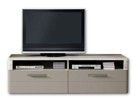 TV, Hifi stolek  - dřevěný Riva RIVT22 (Dub pískový / čedič)