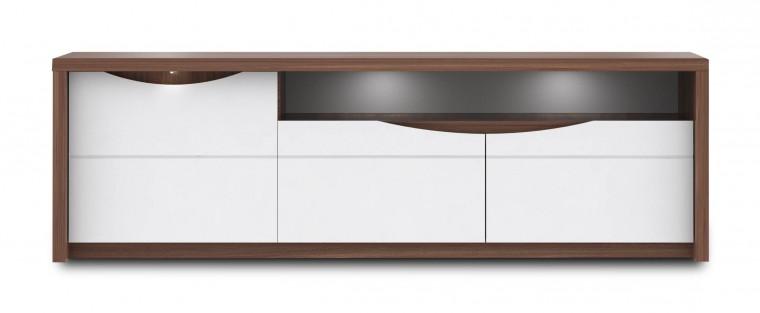 TV, Hifi stolek  - dřevěný Saint Tropez-STZT131B(J34 - dub sangalo/bílý lesk)