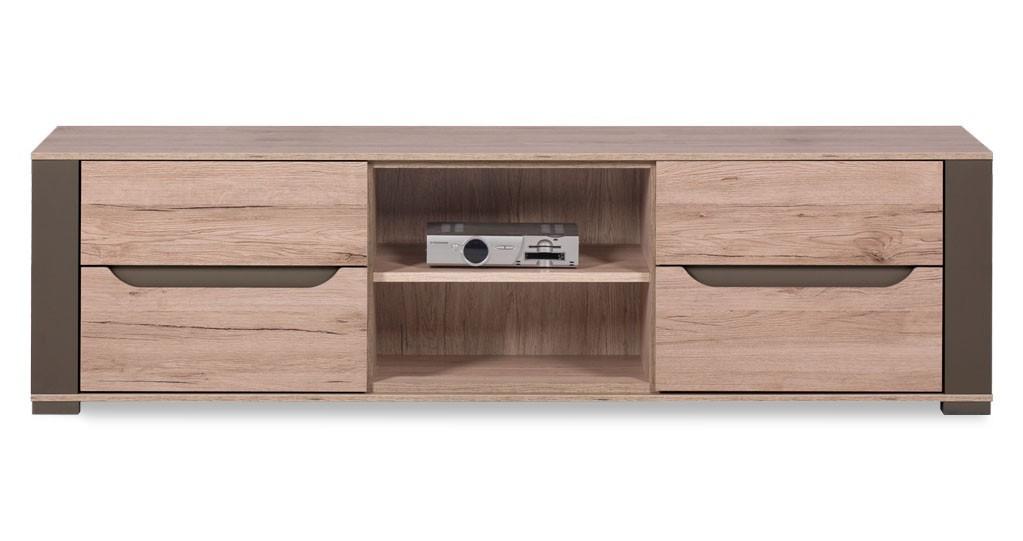 TV, Hifi stolek  - dřevěný Savana - SV 1, TV stolek (dub san remo/dub san remo - latte)