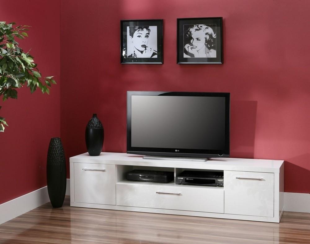 TV, Hifi stolek  - dřevěný Shine SHNT17 (Bílá VL)