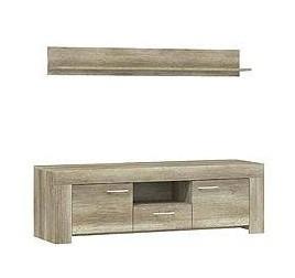 TV, Hifi stolek  - dřevěný Sky - TV stolek SRTV 155+ P155 (country šedá)