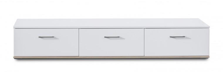 TV, Hifi stolek  - dřevěný Sly - Typ 32 (bílá arctic/bílá arctic vysoký lesk)
