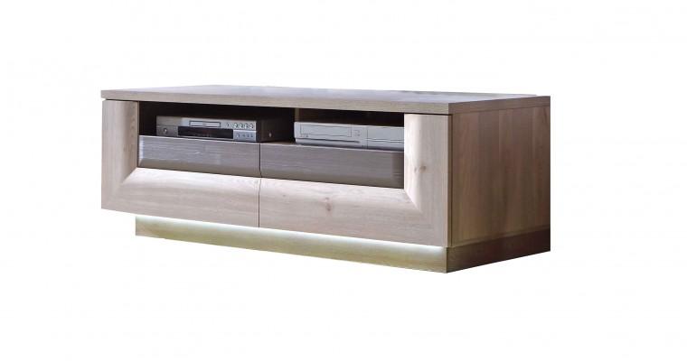 TV, Hifi stolek  - dřevěný Stairs - TV stolek, 2 zásuvky
