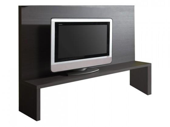 TV, Hifi stolek  - dřevěný Strada - Zadní panel C186 (eben perletově šedá)