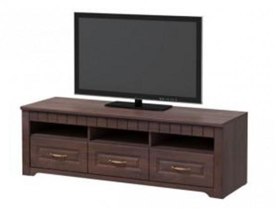 TV, Hifi stolek  - dřevěný Tampere - Komoda (schoko bardolino dub pílený, 3x zásuvka)