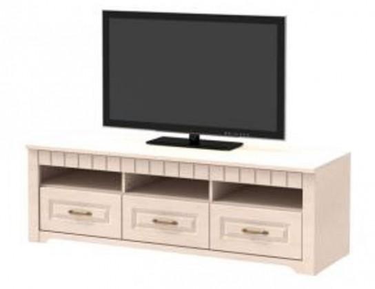 TV, Hifi stolek  - dřevěný Tampere - Komoda (vanillka patina, 3x zásuvka, 1x dělená police)