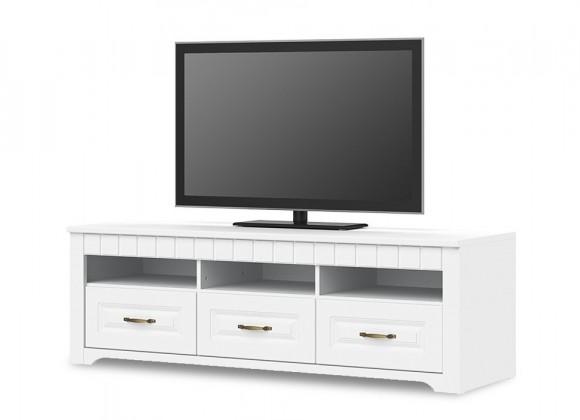 TV, Hifi stolek  - dřevěný Tampere - Typ 32 (bílá arctic)