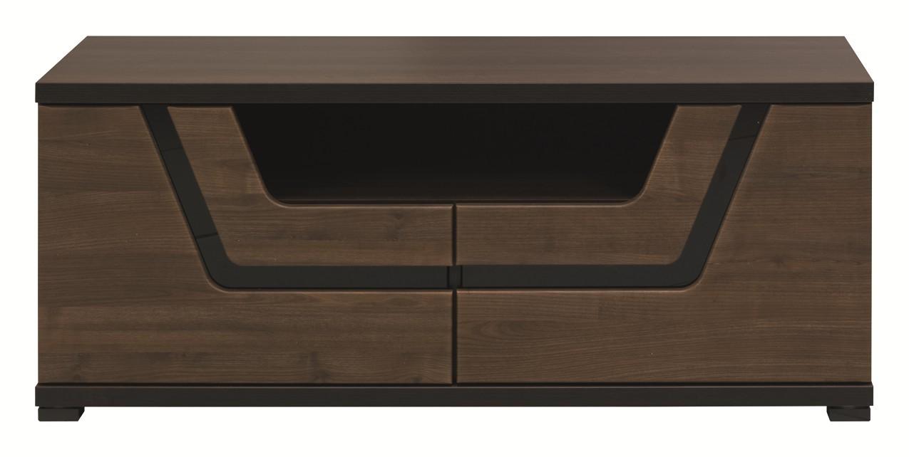 TV, Hifi stolek  - dřevěný Tes - TV komoda TS 10 (ořech, korpus a fronty)