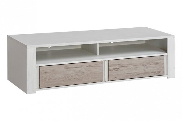 TV, Hifi stolek  - dřevěný TV stolek Alvo - 2 zásuvky (andersen white pine/andersen beige)