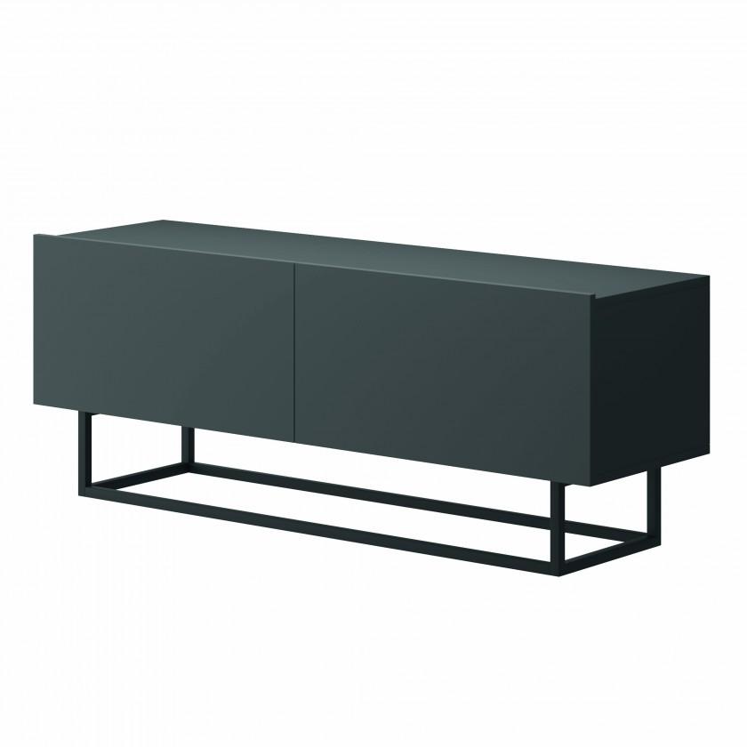 TV, Hifi stolek  - dřevěný TV stolek Duva (grafit)
