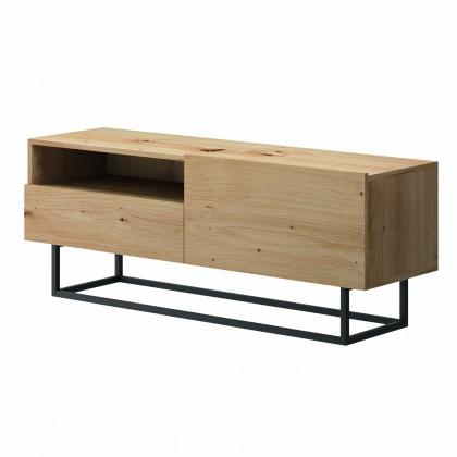 TV, Hifi stolek  - dřevěný TV stolek Duva (zásuvka, dub)