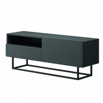 TV, Hifi stolek  - dřevěný TV stolek Duva (zásuvka, grafit)