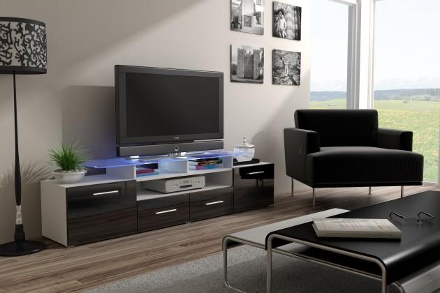 TV, Hifi stolek  - dřevěný TV stolek Evora (dekor korpusu - bílá)