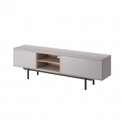 TV, Hifi stolek  - dřevěný TV stolek Falke (šedá)