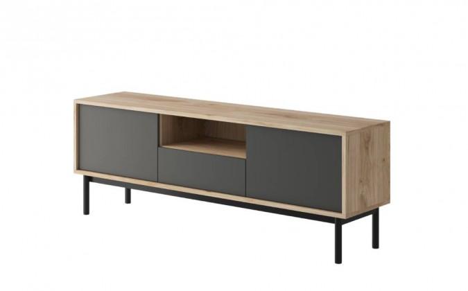 TV, Hifi stolek  - dřevěný TV stolek Fjara (grafit)