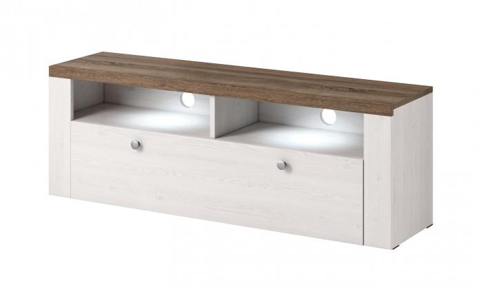 TV, Hifi stolek  - dřevěný TV stolek Larona (sonoma trufel)