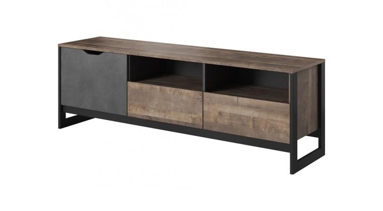 TV, Hifi stolek  - dřevěný TV stolek Laura, 1x dveře, 2 zásuvka